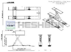 Heshbon HL51G Vehicle Lift - Wheel Algnment Scissors