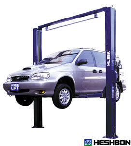 Heshbon HL26K Vehicle Lift - 2 Post Clear Floor