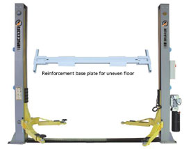 SAE40 Two Post Lift with base plate – 4 ton capacity