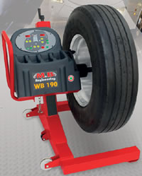 mobile truck wheel balancers